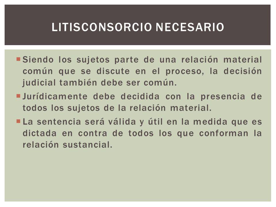 El litisconsorte facultativo no forma parte de la relación material puesta en juego en el proceso, pero tiene relaciones conexas con alguna de las partes y podría verse afectado por la deicisón del proceso.