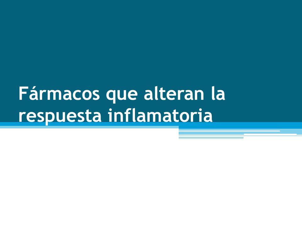 Fármacos que alteran la respuesta inflamatoria
