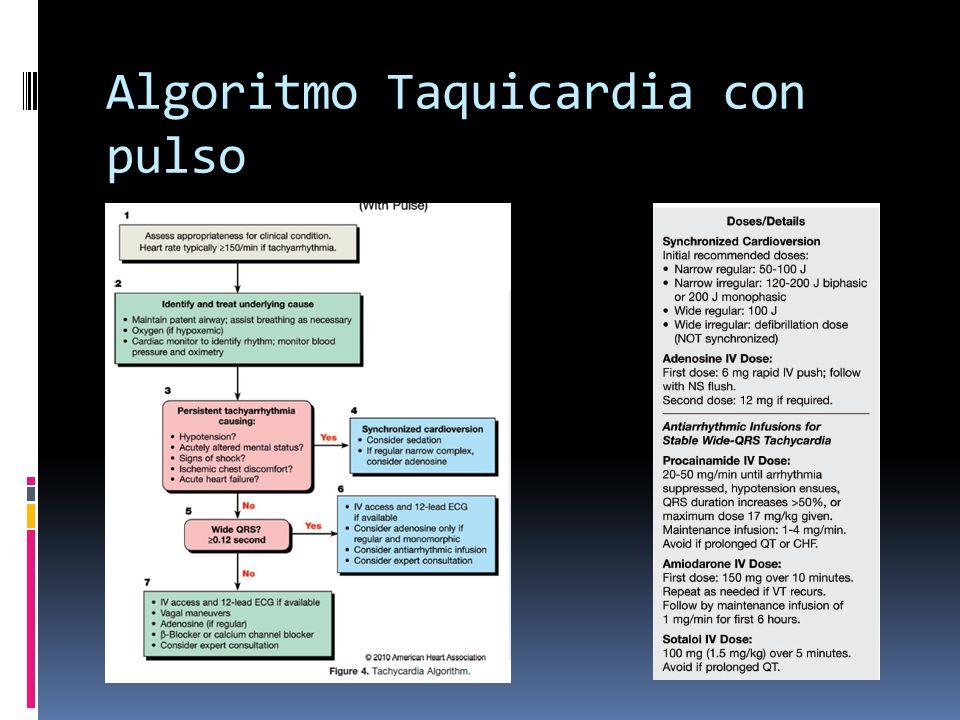 Algoritmo Taquicardia con pulso