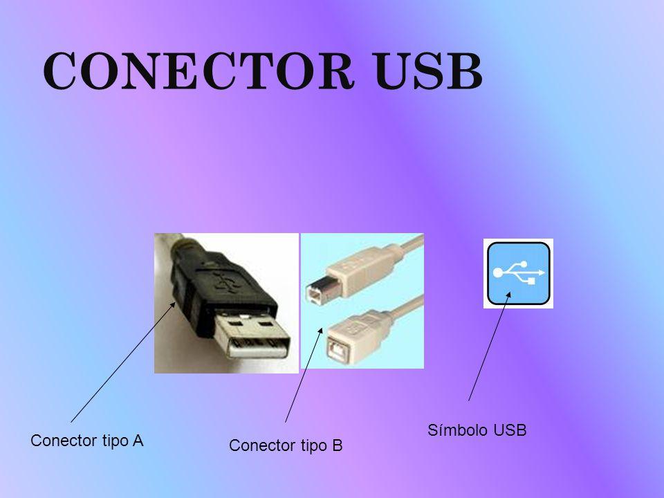 CONECTOR USB Conector tipo A Conector tipo B Símbolo USB
