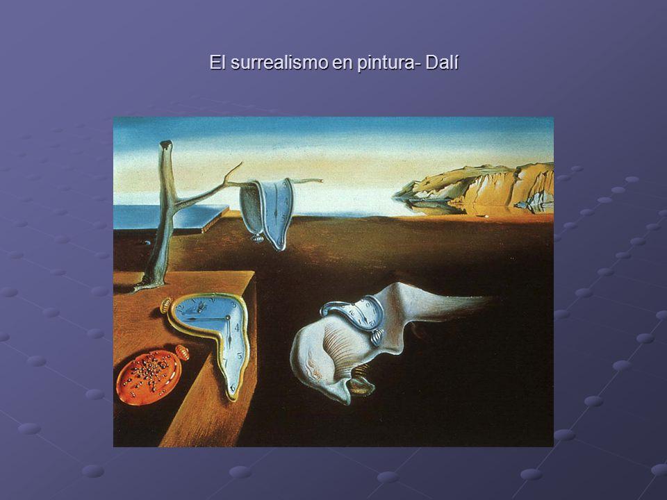 El surrealismo en pintura- Dalí
