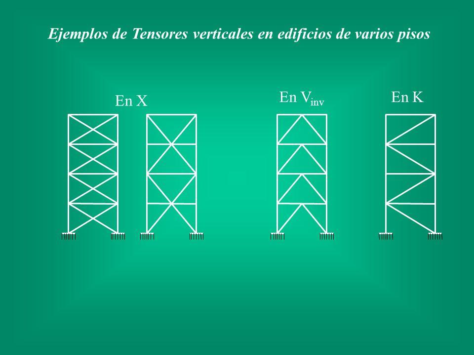 Ejemplos de Tensores verticales en edificios de varios pisos En X En KEn V inv