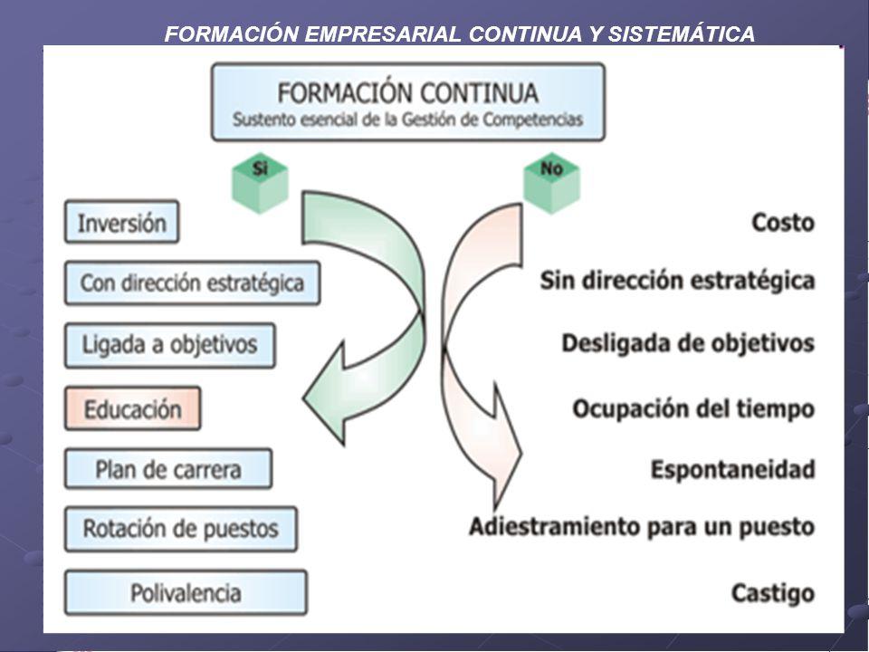FORMACIÓN EMPRESARIAL CONTINUA Y SISTEMÁTICA