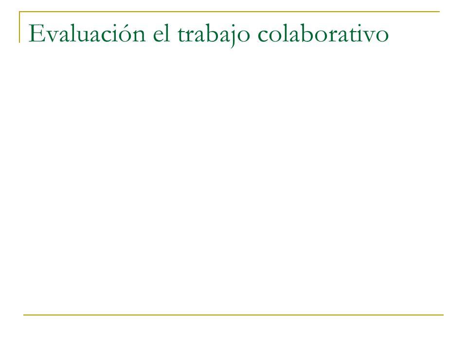 Evaluación el trabajo colaborativo