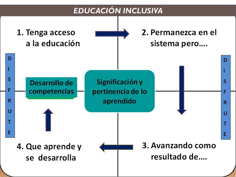 Las escuelas serán inclusivas cuando: Apliquen metodologías de enseñanza eficaces, centradas en el desarrollo de competencias.