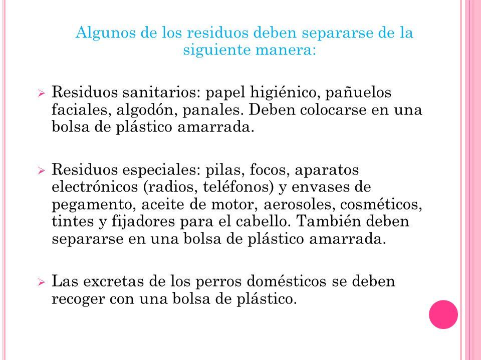 Para separar los residuos de manera correcta es necesario comprender que se clasifican en dos tipos: Orgánicos: son de origen anímala o vegetal, por e