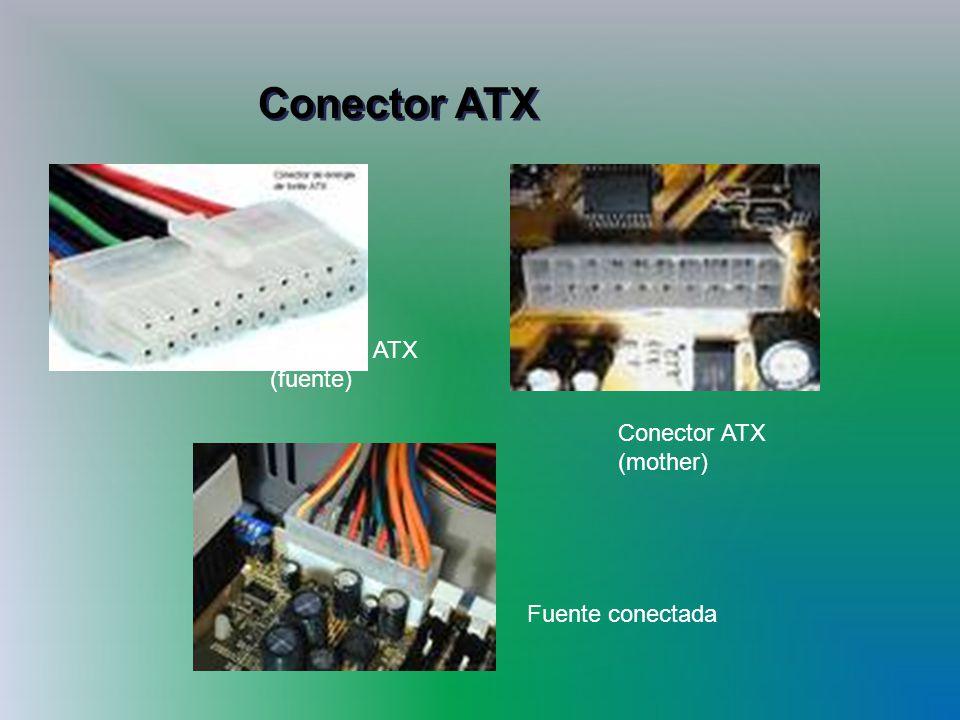 Conector ATX Conector ATX (fuente) Fuente conectada Conector ATX (mother)