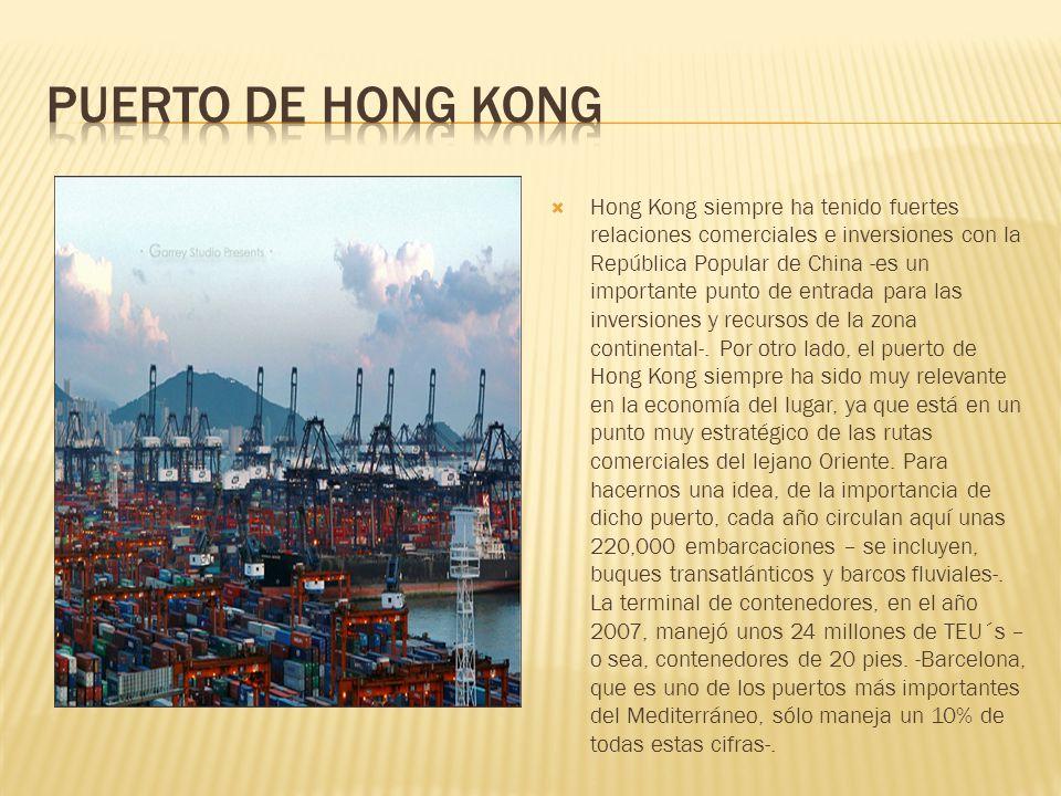 Hong Kong siempre ha tenido fuertes relaciones comerciales e inversiones con la República Popular de China -es un importante punto de entrada para las inversiones y recursos de la zona continental-.