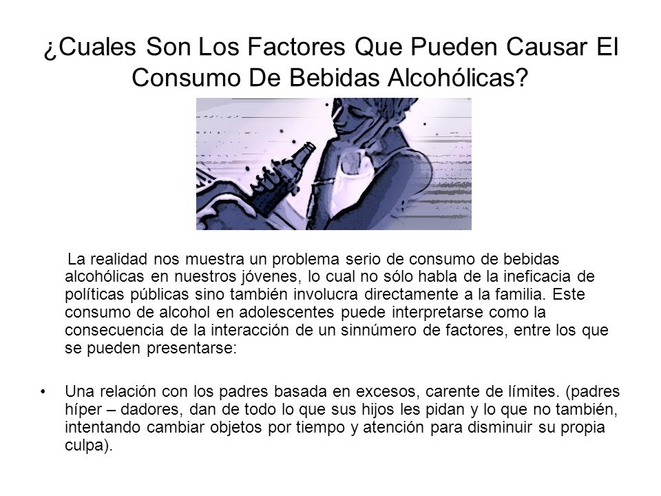 El consumo de alcohol entre adolescentes ha sido asociado con muertes por suicidio y accidentes de tránsito. Al ser un depresor del sistema nervioso c