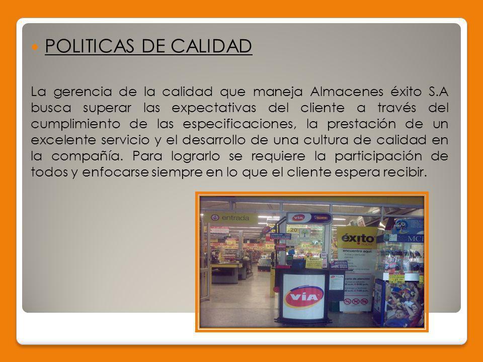 CLASIFICACIÓN DEL GRUPO ÉXITO Por sector económico Comercial: Desarrolla la venta de los productos terminados en la fábrica.