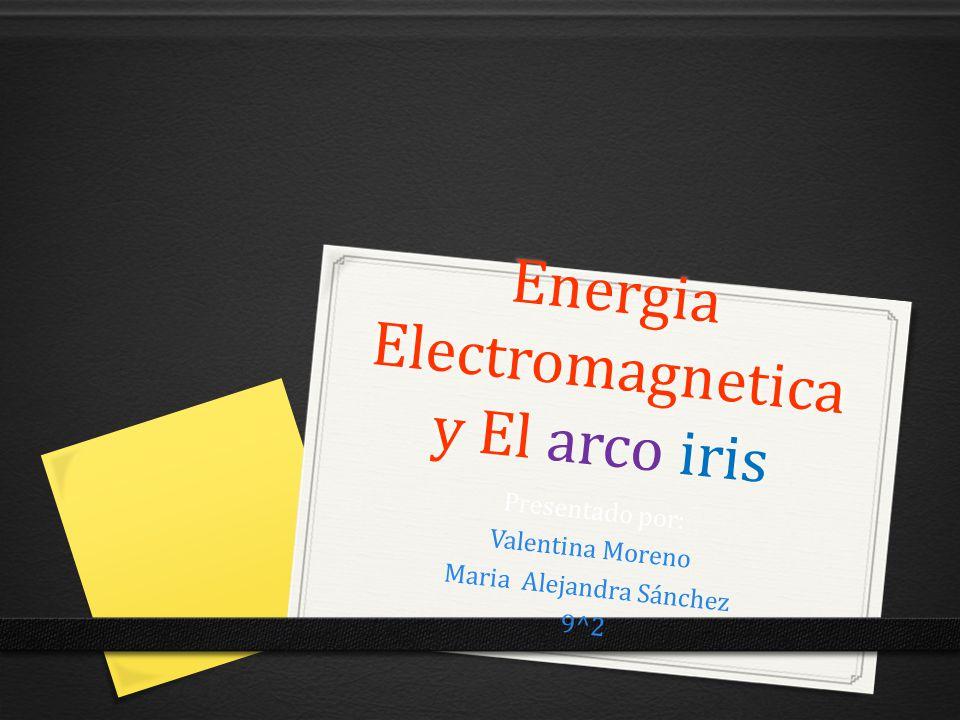 Energia Electromagnetica y El arco iris Presentado por: Valentina Moreno Maria Alejandra Sánchez 9^2