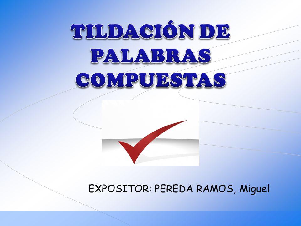 EXPOSITOR: PEREDA RAMOS, Miguel