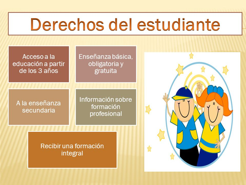 Acceso a la educación a partir de los 3 años Enseñanza básica, obligatoria y gratuita A la enseñanza secundaria Información sobre formación profesiona