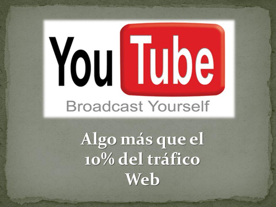 Algo más que el 10% del tráfico Web