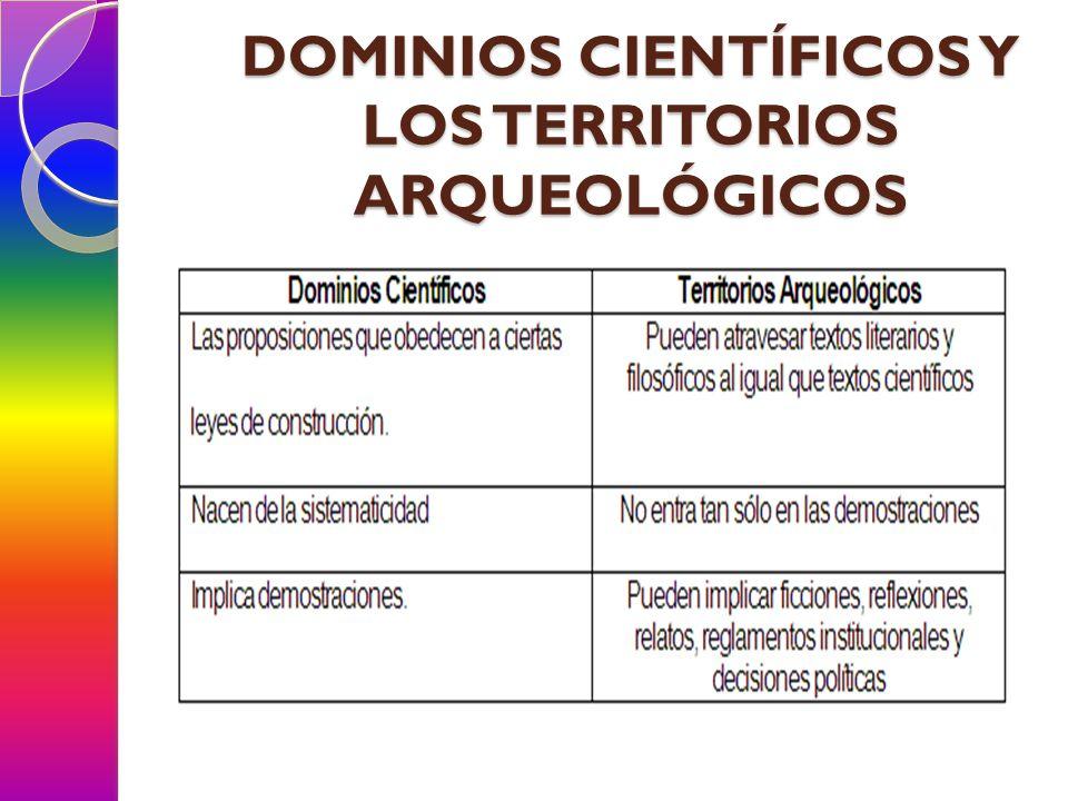 SABER E IDEOLOGÍA La ciencia se localiza en el campo de saber y desempeña en él un papel.