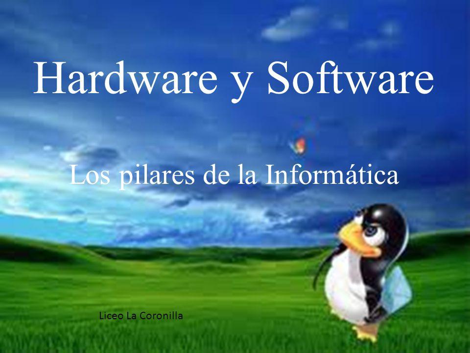 Hardware y Software Los pilares de la Informática Liceo La Coronilla