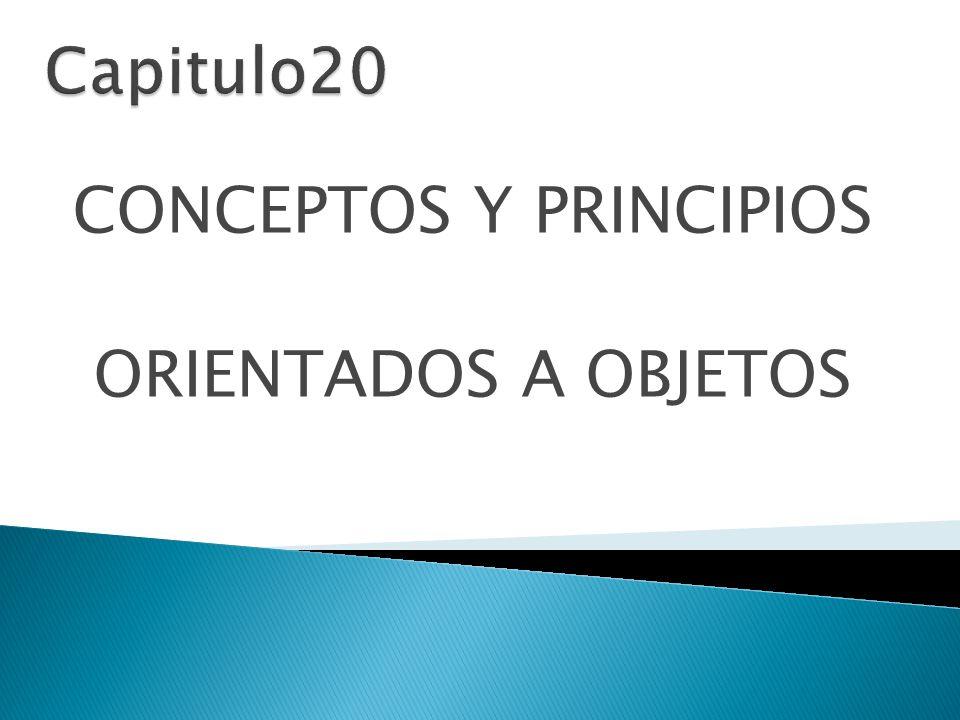 CONCEPTOS Y PRINCIPIOS ORIENTADOS A OBJETOS