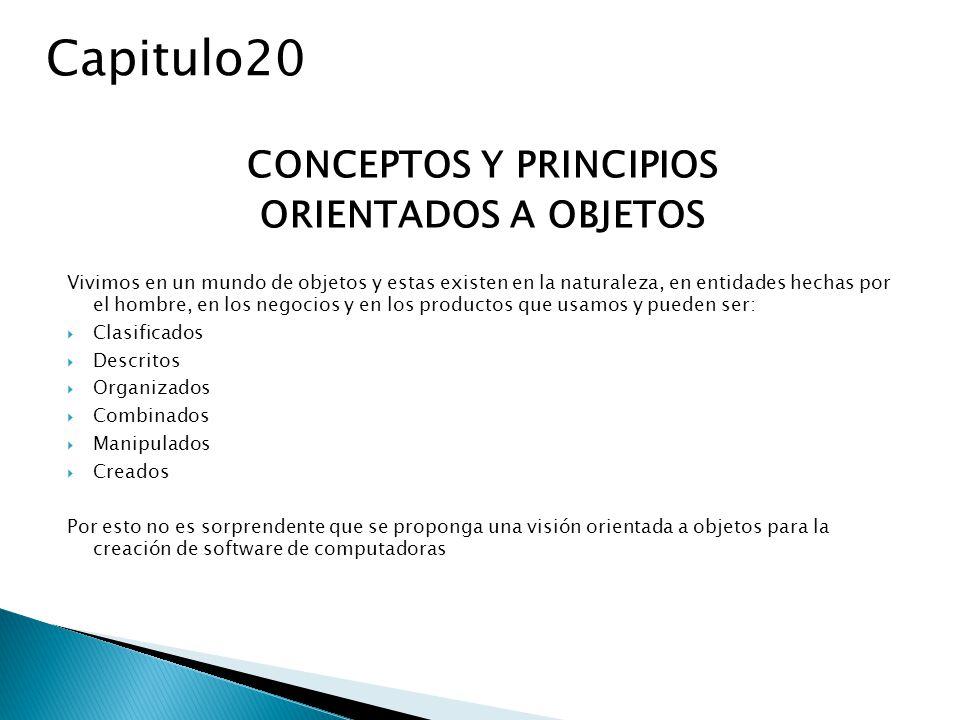 EL PARADIGMA ORIENTADO A OBJETOS Durante años el termino orientado a objetos (OO)se uso para referirse a un enfoque de desarrollo de software que usaba uno de los lenguajes orientados a objetos (Ada 95,C++, eiffel, smalltalk, etc.) hoy en día el paradigma OO es una completa visión de3 la ingeniería del software de Edward berard Capitulo20