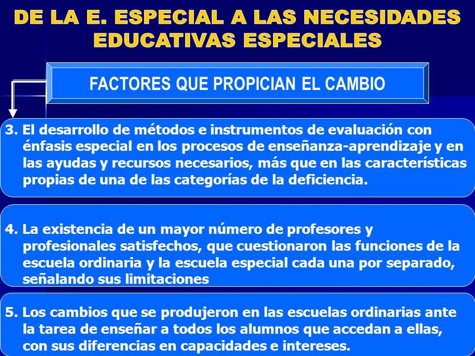 FACTORES QUE PROPICIAN EL CAMBIO 3.