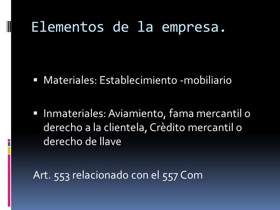 CARACTERISTICAS DE LA EMPRESA 1. Es permanente, debe tener cierta duración, Art. 562 Com 2. Tiene unidad de destino, forma un todo orgánico con sus el