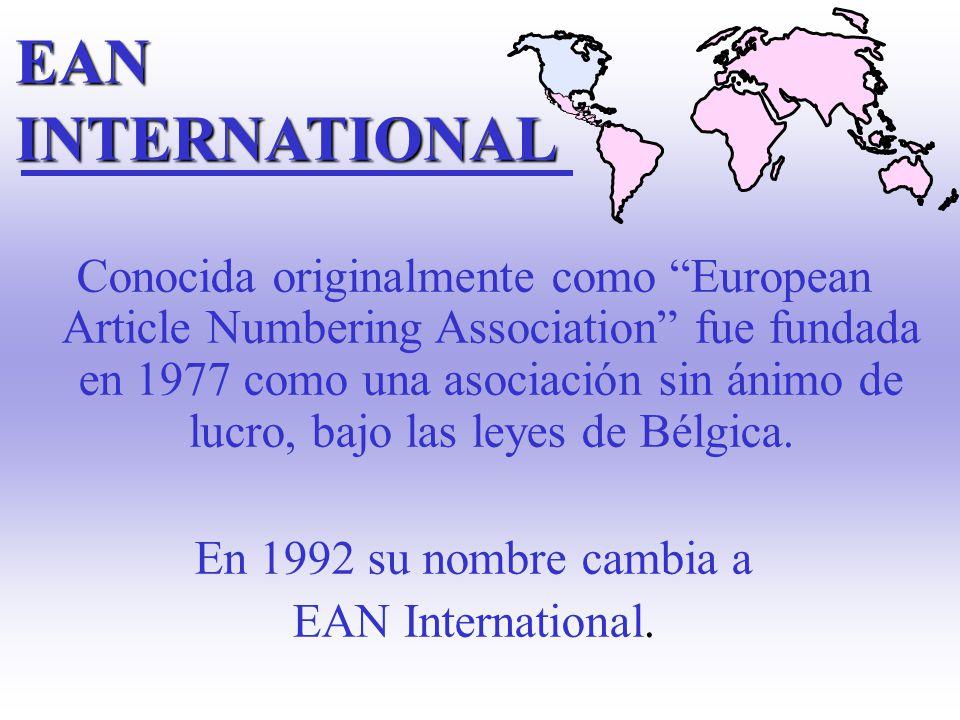 Organismo fundado en 1973. Administra el sistema de codificación en U.S.A. y CANADA UPC: Código utilizado para la identificación de ítems. UCC (Unifor
