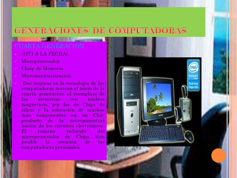 GENERACIONES DE COMPUTADORAS TERSERA GENERACION Los clientes podían escalar sus sistemas 360 a modelos IBM de mayor tamaño y podían correr sus program