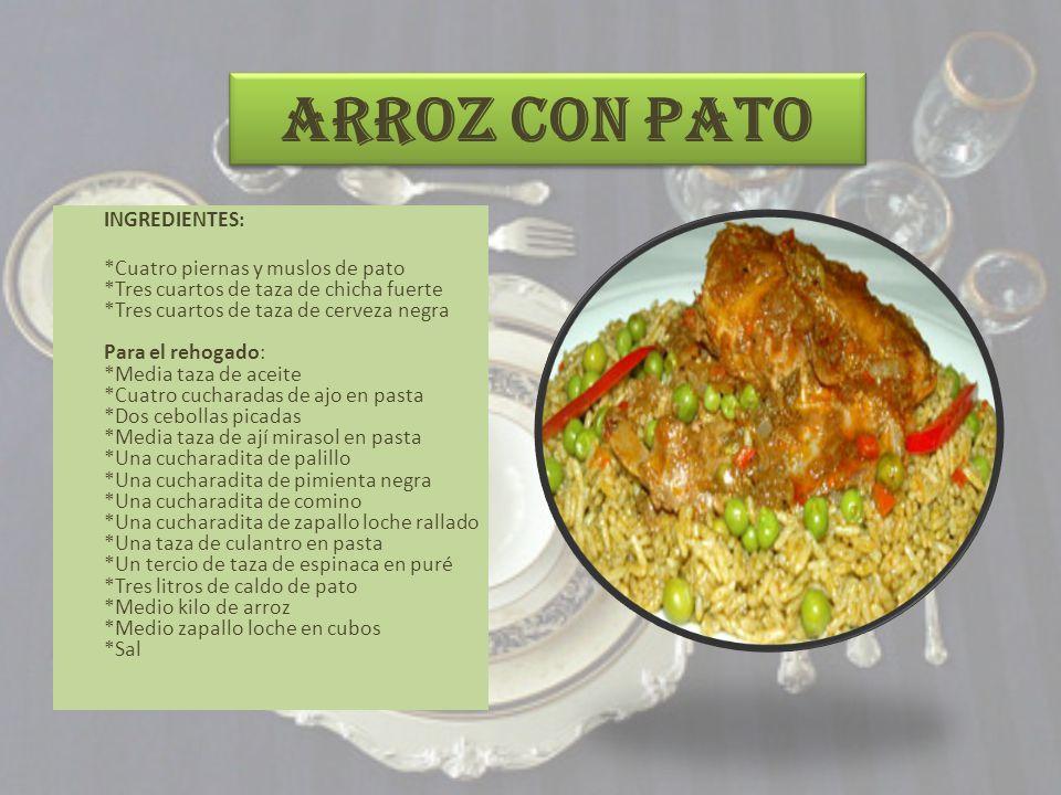 ADOBO DE POLLO INGREDIENTES: (Para 8 personas) - 1 kg de pollo en presas, - 2 cebollas, - ½ taza de vinagre, - 1 taza de agua, - 4 cucharadas de ají panca licuado, - 2 cucharadas de ajos molidos, - ¼ de taza de aceite, - Sal y pimienta al gusto.