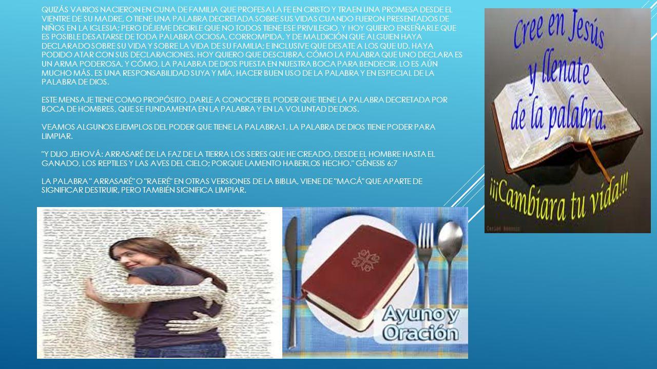 ESTAS PALABRAS FUERON DICHAS POR JEHOVÁ ANTES DE QUE SE PRODUJESE EL DILUVIO; Y LA MOTIVACIÓN DE JEHOVÁ PARA PROPICIAR EL DILUVIO, LA ENCONTRAMOS EN GÉNESIS 6:12-13: DIOS MIRÓ LA TIERRA, Y HE AQUÍ QUE ESTABA CORROMPIDA, PORQUE TODA CARNE HABÍA CORROMPIDO SU CAMINO SOBRE LA TIERRA Y DIJO DIOS A NOÉ: HE DECIDIDO EL FIN DE TODO SER, PORQUE LA TIERRA ESTÁ LLENA DE VIOLENCIA A CAUSA DE ELLOS; Y YO LOS DESTRUIRÉ CON LA TIERRA ESTE DESTRUIRÉ VIENE DE LA PALABRA SHAKJÁT , QUE SIGNIFICA DESTROZAR, MATAR, HACER DESTRUCCIÓN.