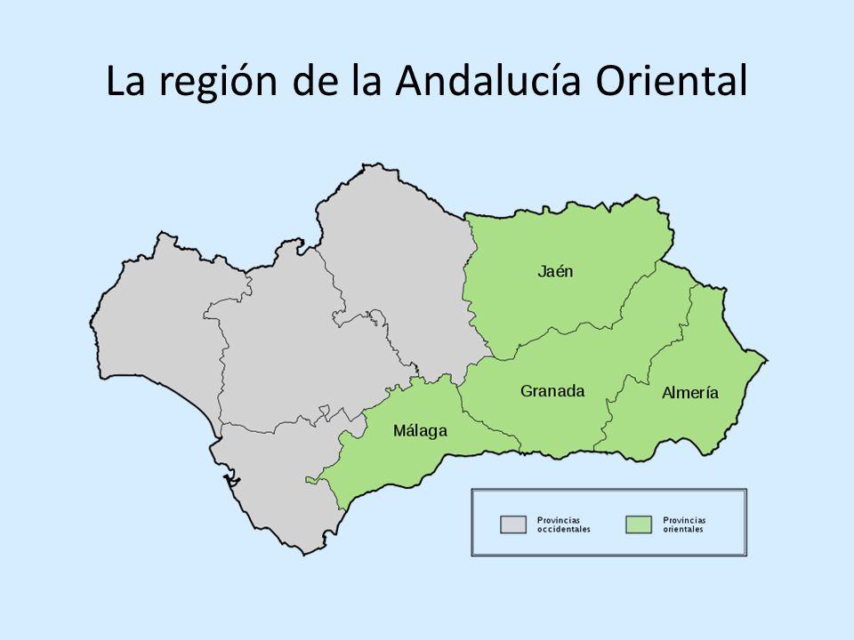 La región de la Andalucía Oriental