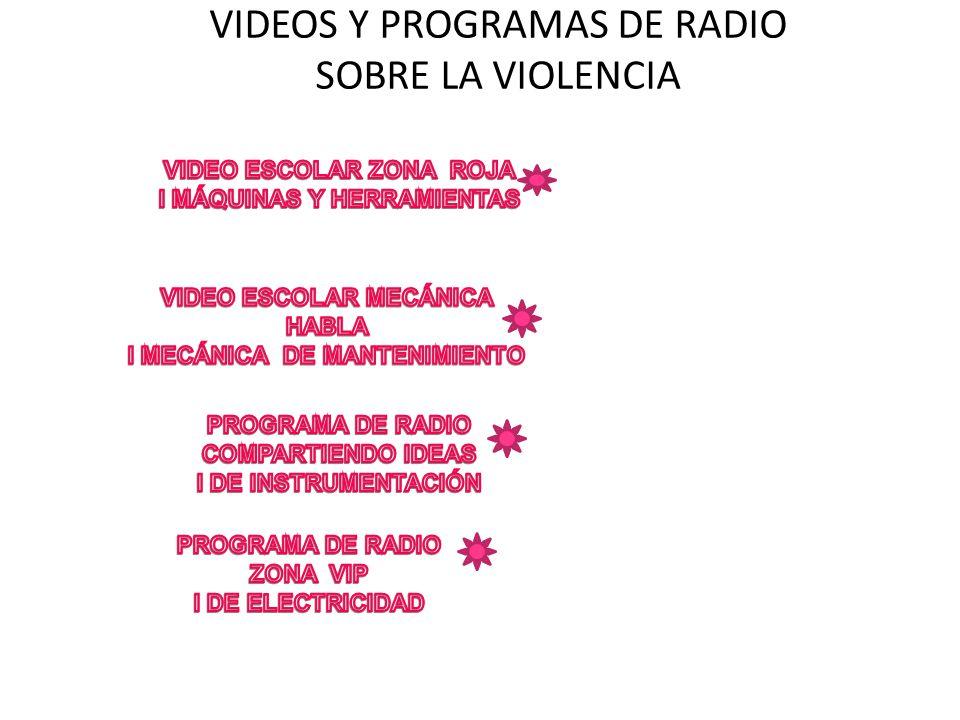 VIDEOS Y PROGRAMAS DE RADIO SOBRE LA VIOLENCIA