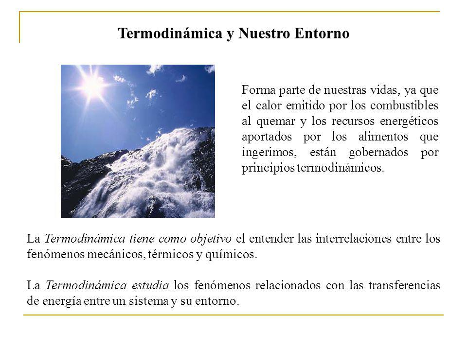 La Termodinámica estudia los fenómenos relacionados con las transferencias de energía entre un sistema y su entorno. Forma parte de nuestras vidas, ya