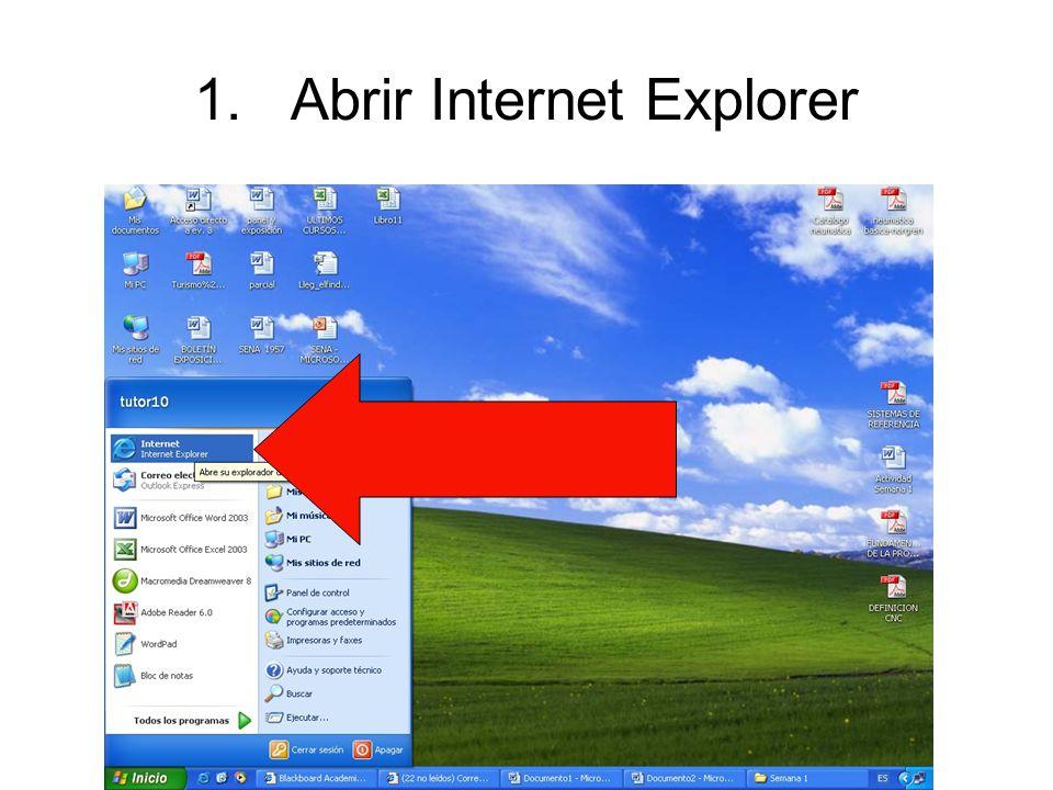 1.Abrir Internet Explorer