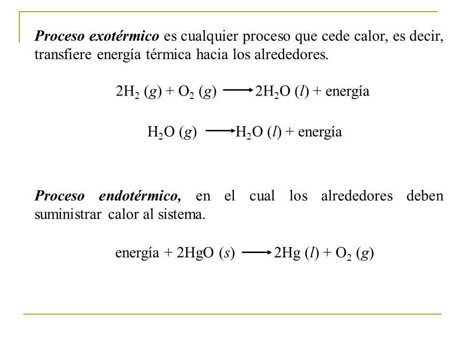 Proceso exotérmico es cualquier proceso que cede calor, es decir, transfiere energía térmica hacia los alrededores.