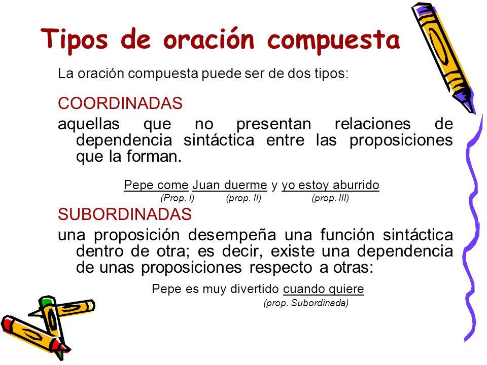 ¿Y qué es una proposición? Pues una proposición es cada una de las oraciones simples que, unidas por nexos, forman una oración compuesta: Estas person