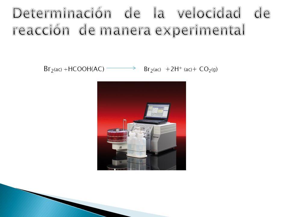 Br 2 (ac) + HCOOH(AC) Br 2 (ac ) +2H + (ac) + CO 2 (g )