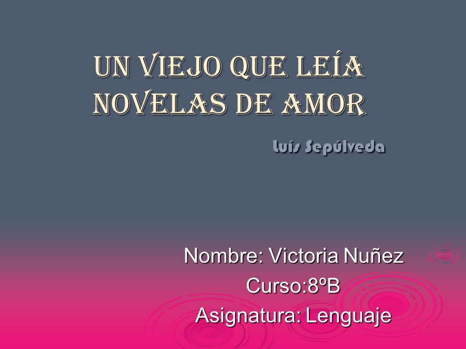 Biografía del autor Luis Sepúlveda nació en Ovalle, Chile, en 1949.