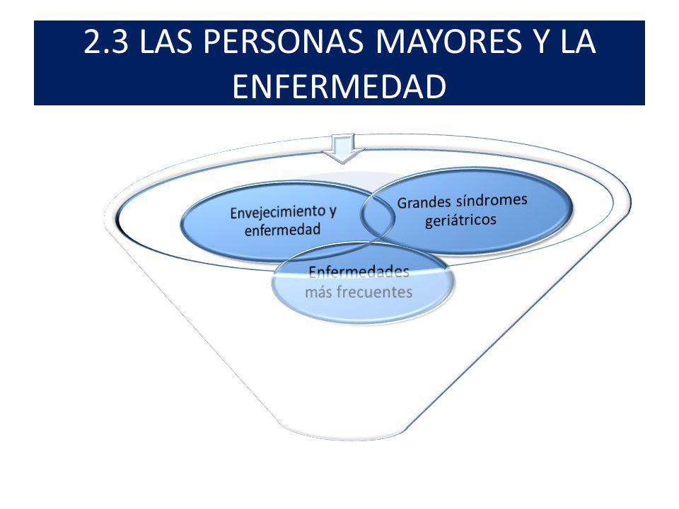 2.3 LAS PERSONAS MAYORES Y LA ENFERMEDAD