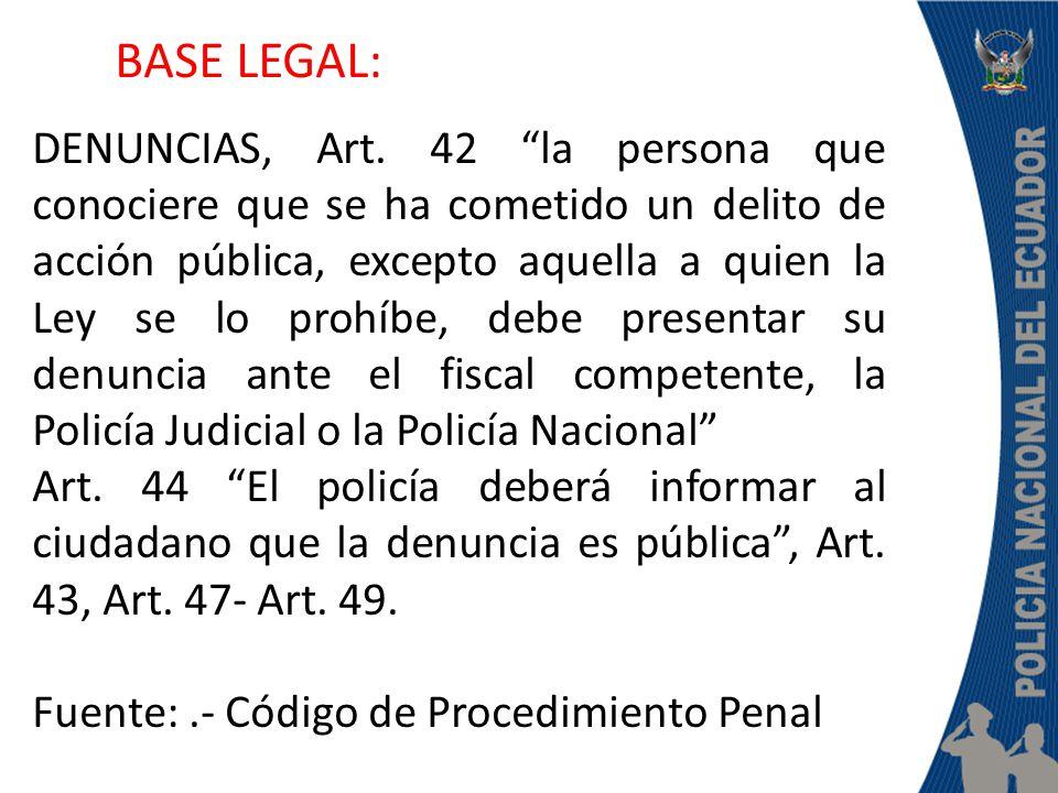 DENUNCIAS, Art.