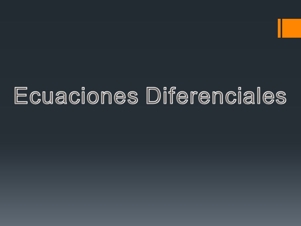 Definición Una ecuación diferencial (ED) es una ecuación que involucra derivadas de una función desconocida de una o varias variables.Ejemplo Las siguientes expresiones son ejemplos de EDs: Conocida como Ley de Crecimiento Exponencial