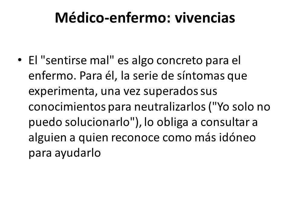 Médico-enfermo: vivencias El