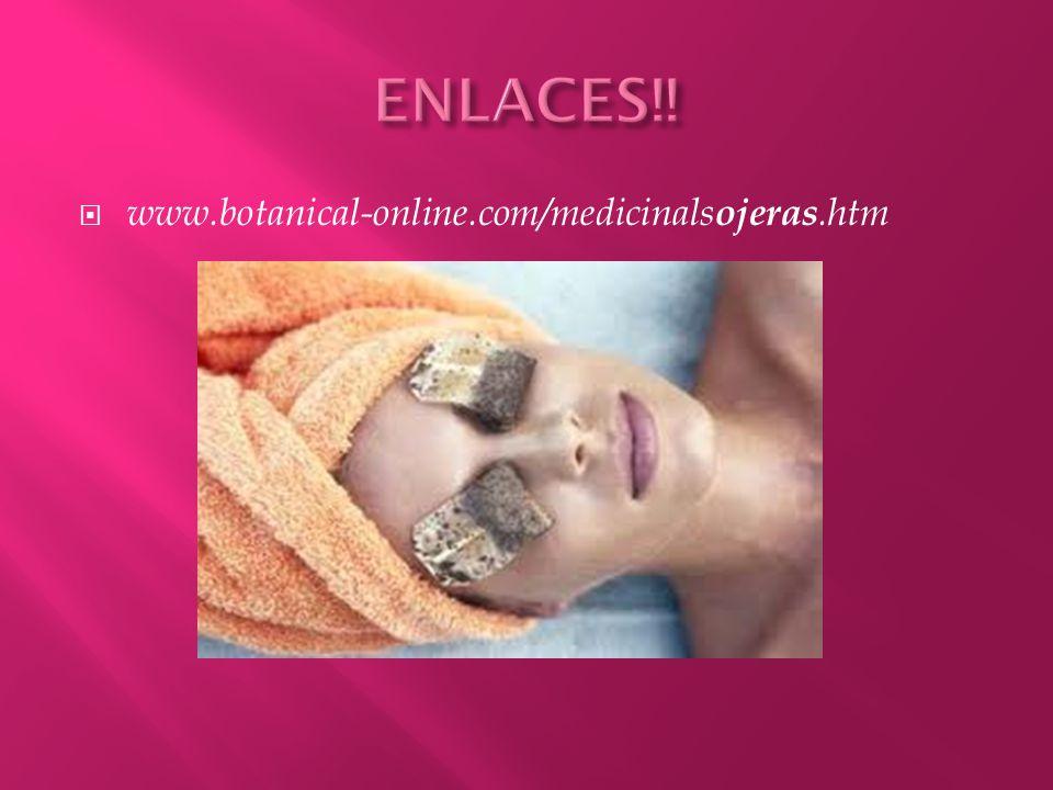 www.lindisima.com/piel2/ojeras.htm www.lindisima.com/piel2/ojeras.htm www.publispain.com/revista/adios-a-las- ojeras.htm - España www.tuimagenpersonal.com/contenidos/eliminar_ bolsas_y_ojeras.php www.tuimagenpersonal.com/contenidos/eliminar_ bolsas_y_ojeras.php www.trendenciasbelleza.com/consejos- de.../como-eliminar-las-ojeras