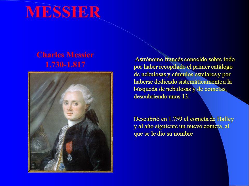 Astrónomo francés conocido sobre todo por haber recopilado el primer catálogo de nebulosas y cúmulos estelares y por haberse dedicado sistemáticamente