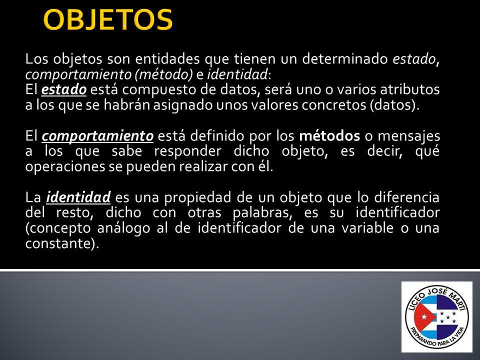 Abstracción: denota las características esenciales de un objeto, donde se capturan sus comportamientos.