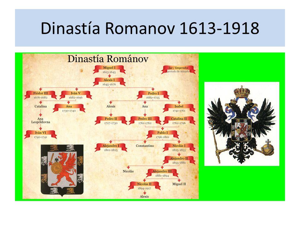 Dinastía Romanov 1613-1918