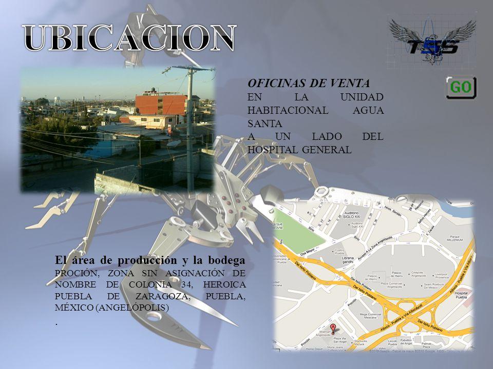 El área de producción y la bodega PROCIÓN, ZONA SIN ASIGNACIÓN DE NOMBRE DE COLONIA 34, HEROICA PUEBLA DE ZARAGOZA, PUEBLA, MÉXICO (ANGELÓPOLIS). OFIC
