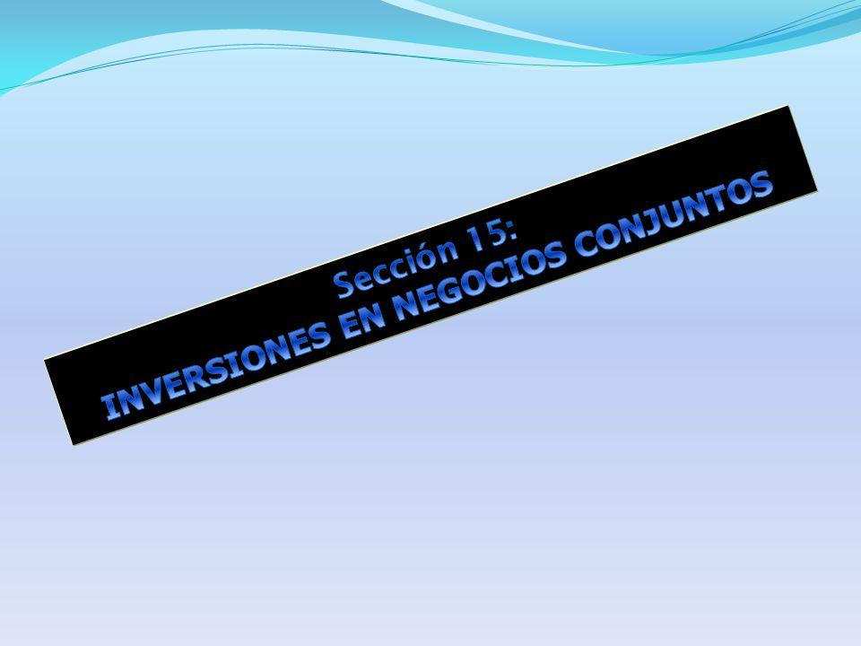 UN INVERSOR EN UN NEGOCIO CONJUNTO REVELARÁ : La Política Contable para reconocer sus participaciones en negocios conjuntos.