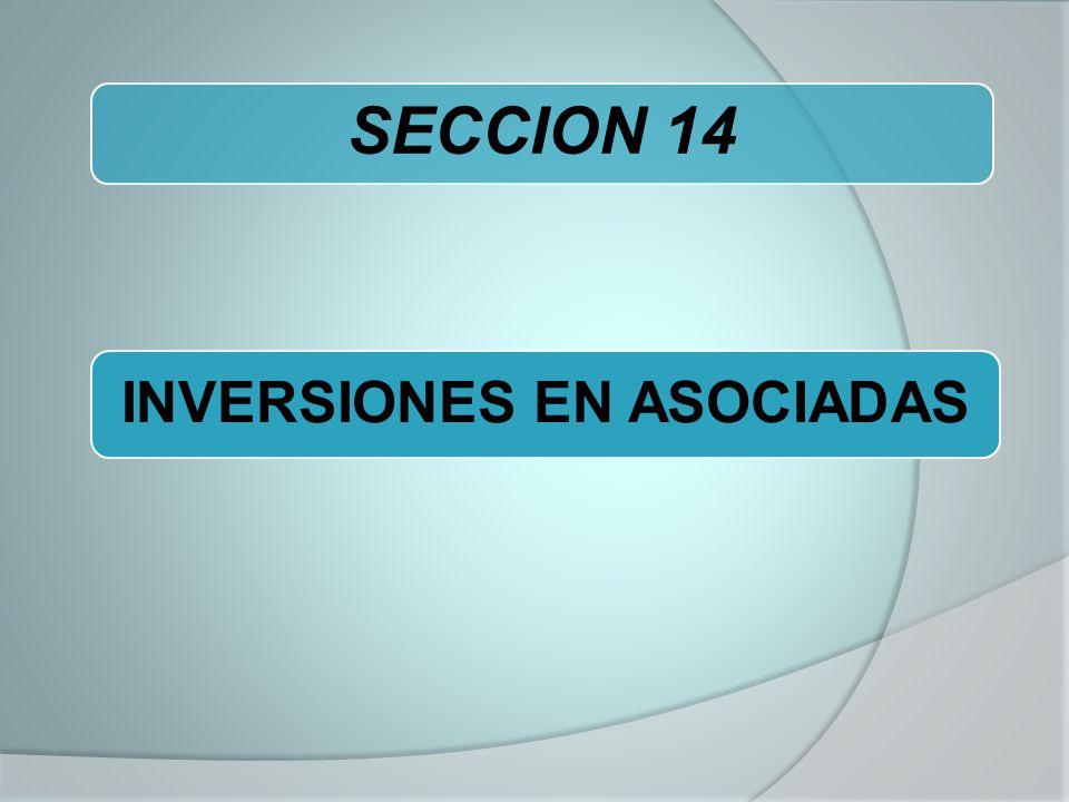 INVERSIONES EN ASOCIADAS SECCION 14