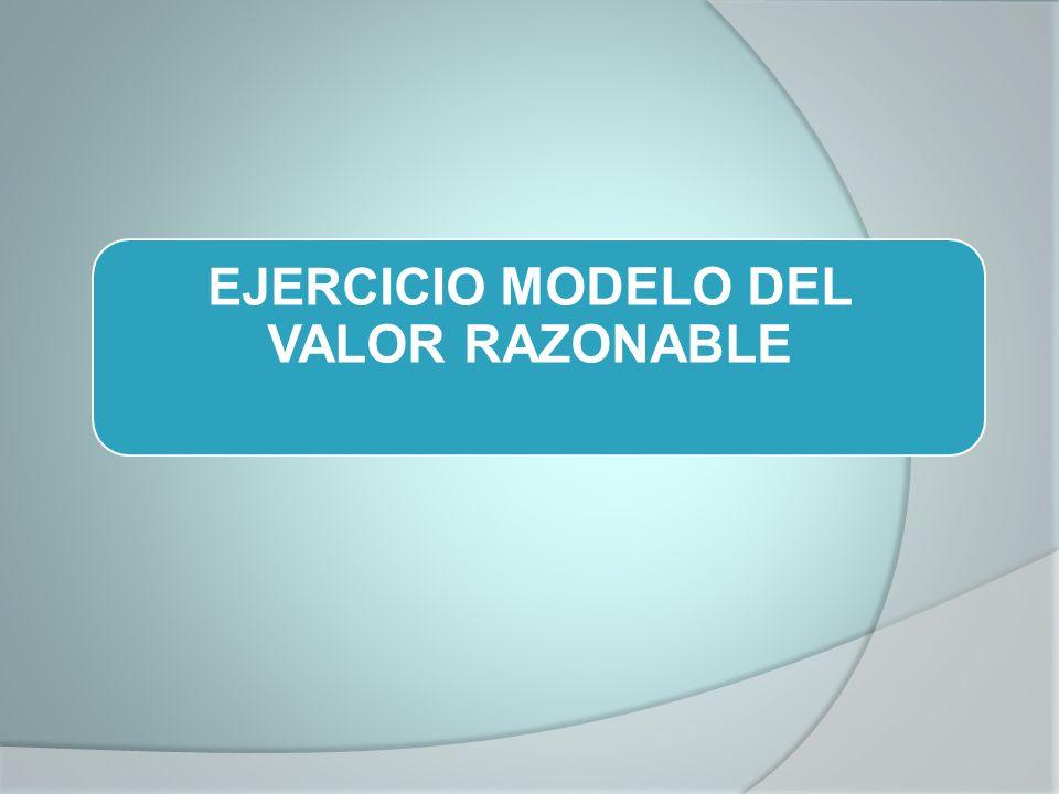 EJERCICIO MODELO DEL VALOR RAZONABLE