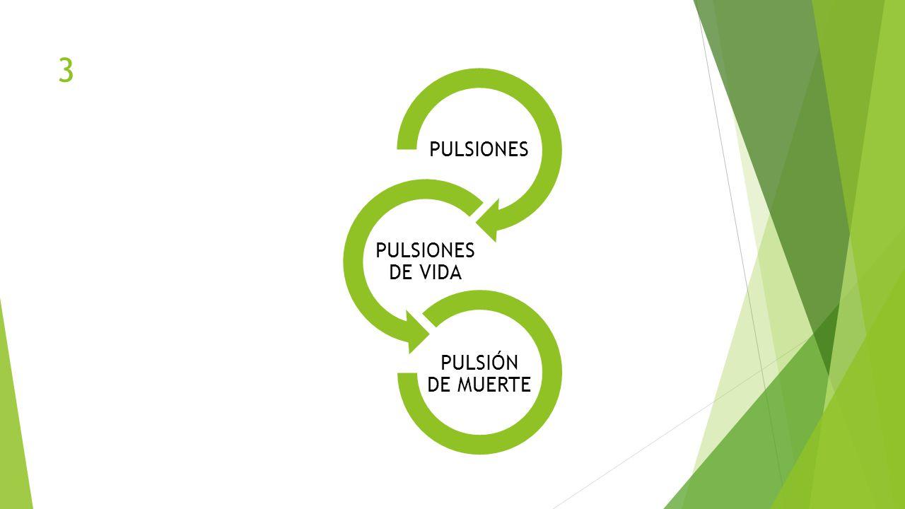 3 PULSIONES PULSIONES DE VIDA PULSIÓN DE MUERTE