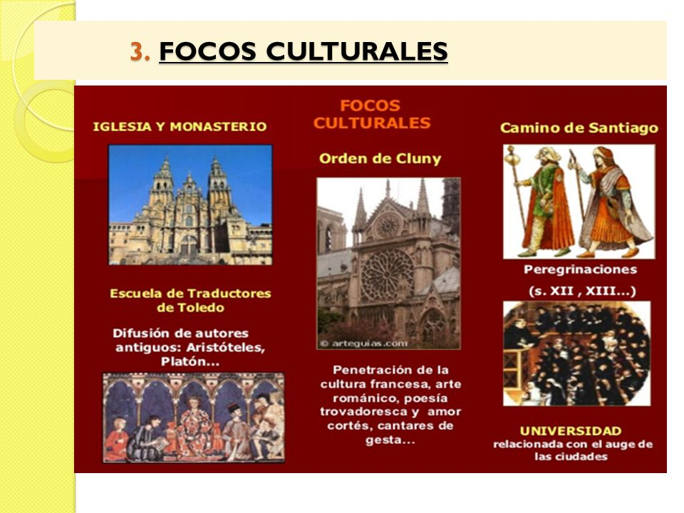 3. FOCOS CULTURALES 3. FOCOS CULTURALES